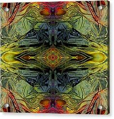 Liquid Decalcomania Mirror Acrylic Print by Otto Rapp