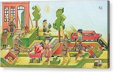 Lisas Journey08 Acrylic Print by Kestutis Kasparavicius