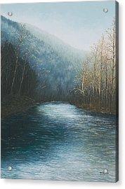 Little Buffalo River Acrylic Print by Mary Ann King