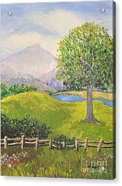 Little Country Scene Too Acrylic Print by Reb Frost