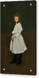 Little Girl In White Acrylic Print by George Bellows
