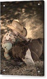 Little Horse Whisperer2 Acrylic Print by Robin-lee Vieira