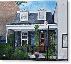 Little House In The City Acrylic Print by Reb Frost