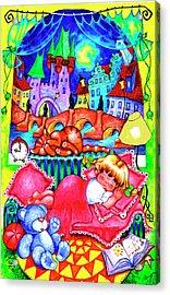 Little Katya Acrylic Print by Inga Konstantinidou