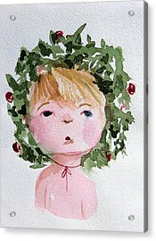 Little Miss Merry Acrylic Print by Mindy Newman