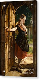 Little Nell Leaving The Church Acrylic Print by James Lobley