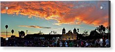 Little Party At The Mission Acrylic Print by John Pierpont