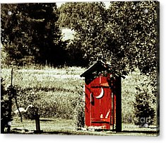 Little Red Outhouse Acrylic Print by Ms Judi