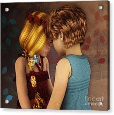 Little Romance Acrylic Print by Jutta Maria Pusl