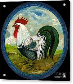 Little Rooster Acrylic Print by Anna Folkartanna Maciejewska-Dyba