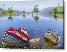 Little Rowboat Acrylic Print by Debra and Dave Vanderlaan