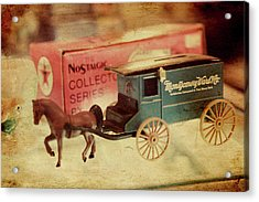 Little Stagecoach Acrylic Print by Toni Hopper