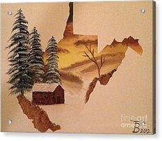 Little Wv Cabin Acrylic Print by Tim Blankenship