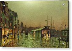 Liverpool Docks Acrylic Print by John Atkinson Grimshaw