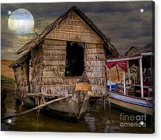 Living On The River Acrylic Print by Adrian Evans