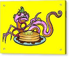 Lizard V. Pancakes Acrylic Print by Christopher Capozzi