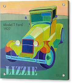 Lizzie Model T Acrylic Print by Evie Cook