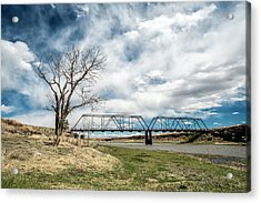 Lobato Bridge In Colorado Acrylic Print by Mary Lee Dereske