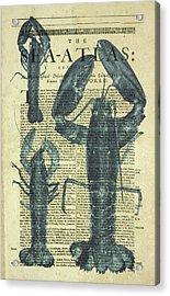 Lobster Sea Atlas Acrylic Print by Erin Cadigan