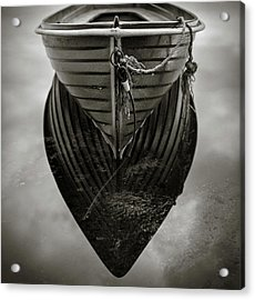 Boat Reflection Acrylic Print by Dave Bowman