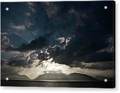 Loch Linnhe Sunset Acrylic Print by Mark Denham