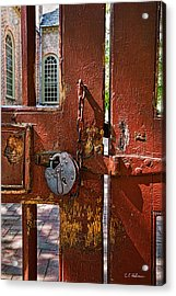 Locked Gate Acrylic Print by Christopher Holmes