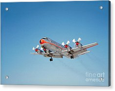 Lockheed L-188b Electra American Airlines Aal Acrylic Print by Wernher Krutein
