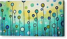 Lollipop Field By Madart Acrylic Print by Megan Duncanson