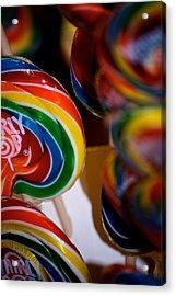 Lollipops Acrylic Print by Lisa Knechtel