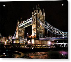 London Bridge At Night Acrylic Print by Dean Wittle