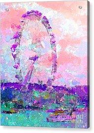 London Eye Acrylic Print by Marilyn Sholin