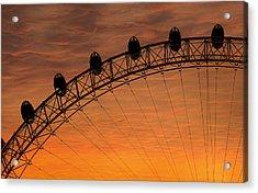 London Eye Sunset Acrylic Print by Martin Newman