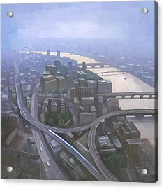 London, Looking West From The Shard Acrylic Print by Steve Mitchell
