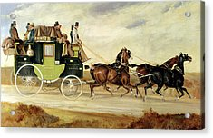 London To Bristol And Bath Stage Coach Acrylic Print by Charles Cooper Henderson