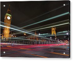 London Traffic Acrylic Print by Mark A Paulda