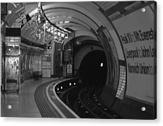 London Underground Acrylic Print by Carmen Hooven