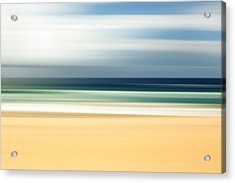 Lone Beach Acrylic Print by Az Jackson
