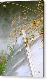 Lone Canoe Acrylic Print by Greg Sharpe