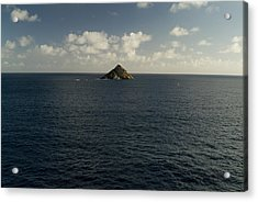 Lone Rock Island In The Middle Of Vast Acrylic Print by Todd Gipstein