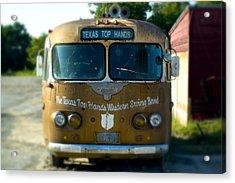 Lone Star Bus 4 Acrylic Print by John Gusky