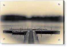 Lonely Jetty Acrylic Print by Mark Denham