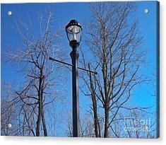 Lonely Lamp Post Acrylic Print by Deborah MacQuarrie