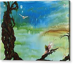 Lonesome Fairy Acrylic Print by Deborah Ellingwood