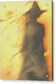 Long Cool Woman In A Black Dress Acrylic Print by Susie DeZarn