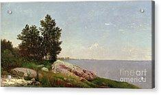 Long Island Sound At Darien Acrylic Print by John Frederick Kensett