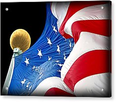 Long May She Wave The American Flag Acrylic Print by Jennie Marie Schell