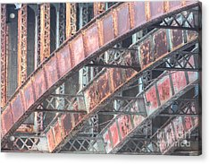 Longfellow Bridge Arches I Acrylic Print by Clarence Holmes
