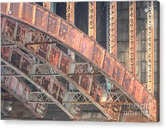 Longfellow Bridge Arches IIi Acrylic Print by Clarence Holmes