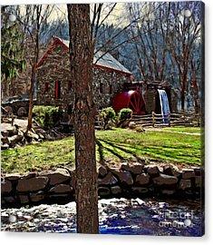 Longfellow's Wayside Gristmill Acrylic Print by Earl Jackson