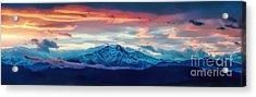 Longs Peak At Sunset Acrylic Print by Jon Burch Photography